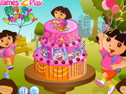 Dora Birthday Cake Decor